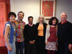 Une partie de l'équipe avec Bernard Bouanchaud et le Dr Chandrasekaran